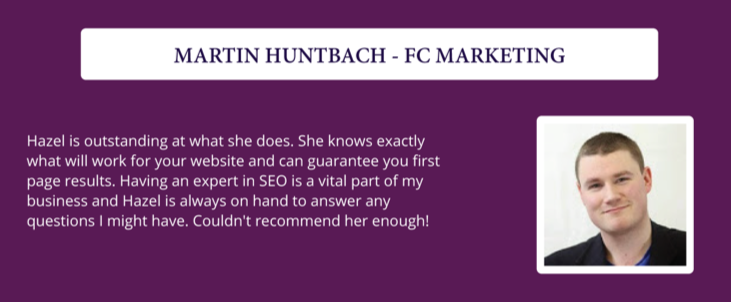 SEO Packages - Testimonial