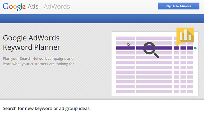 Google Adwords and Keyword Planner