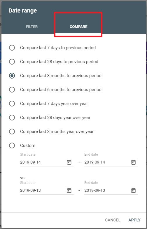 GSC - Date compare