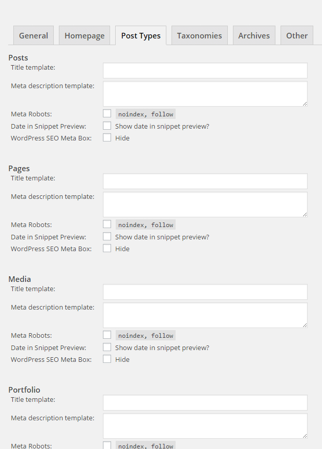 Yoast post types tab
