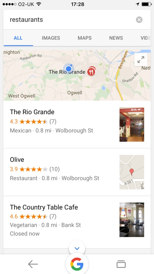 Local SEO search