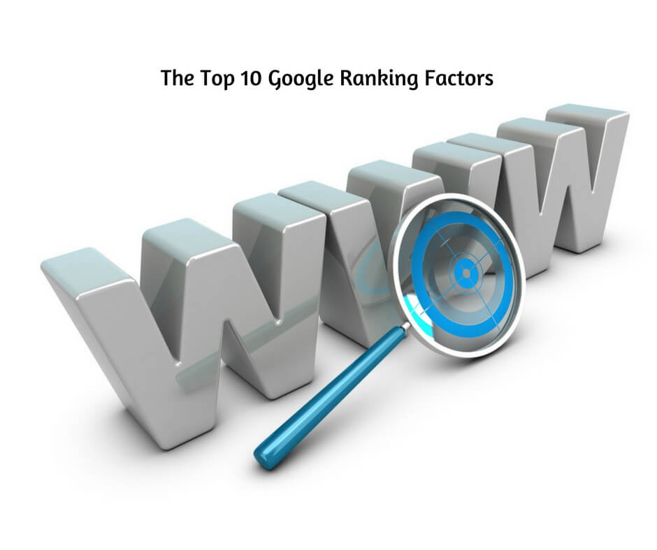The Top 10 Google Ranking Factors