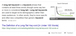 Example of featured snippet from Hubspot