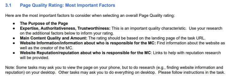 Page Quality Rating Guidelines
