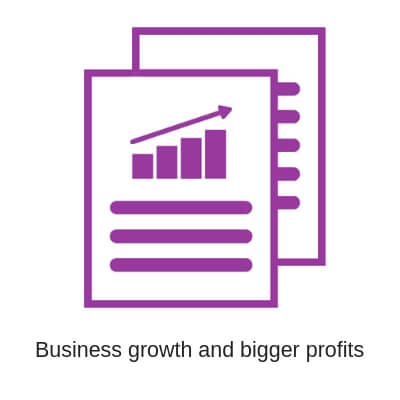Business growth and bigger profits