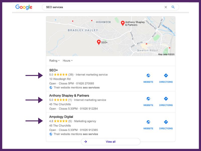 SEO Services Google Reviews