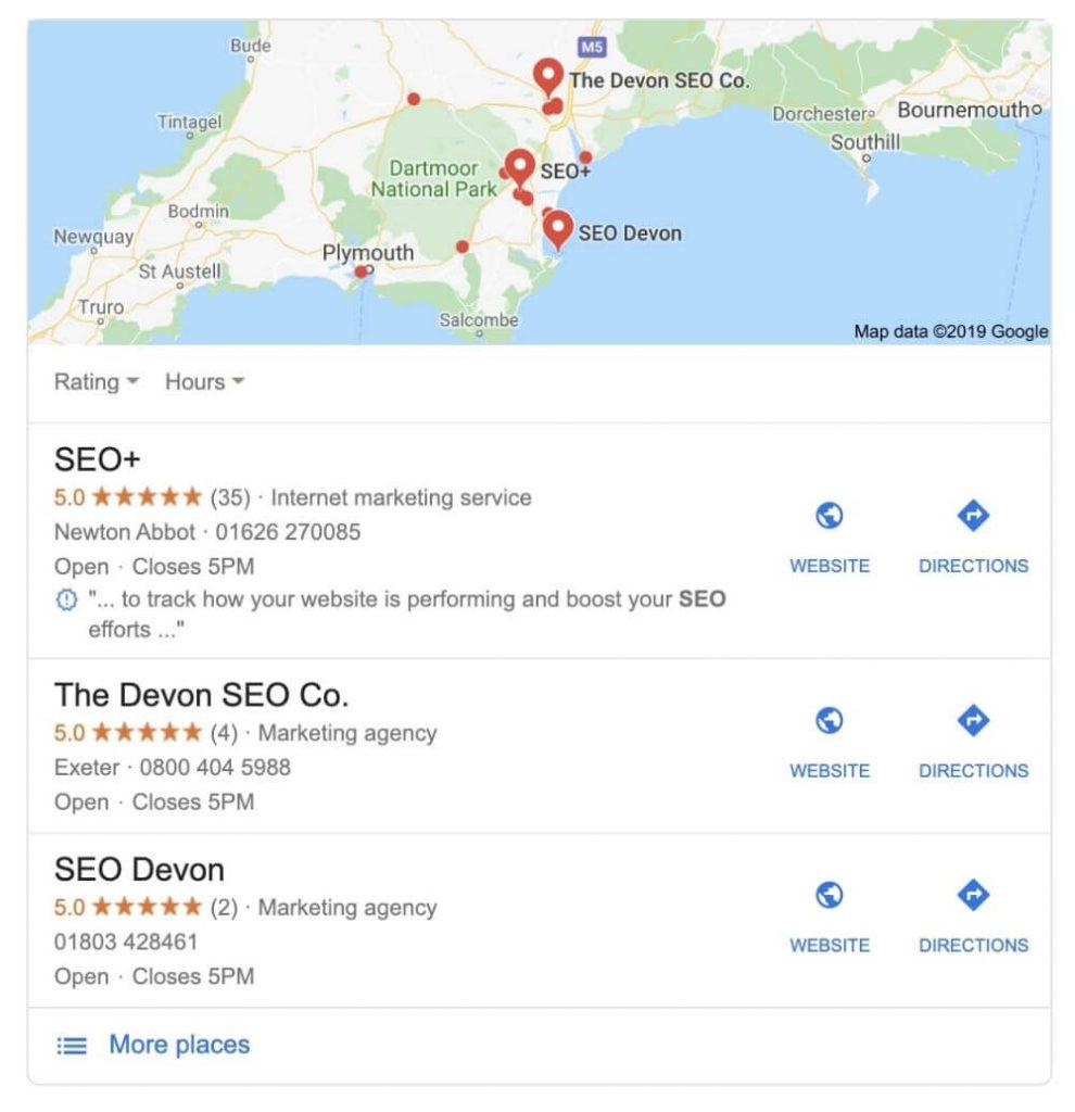 SEO Devon search
