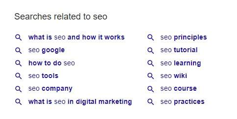 Searches related to in Google