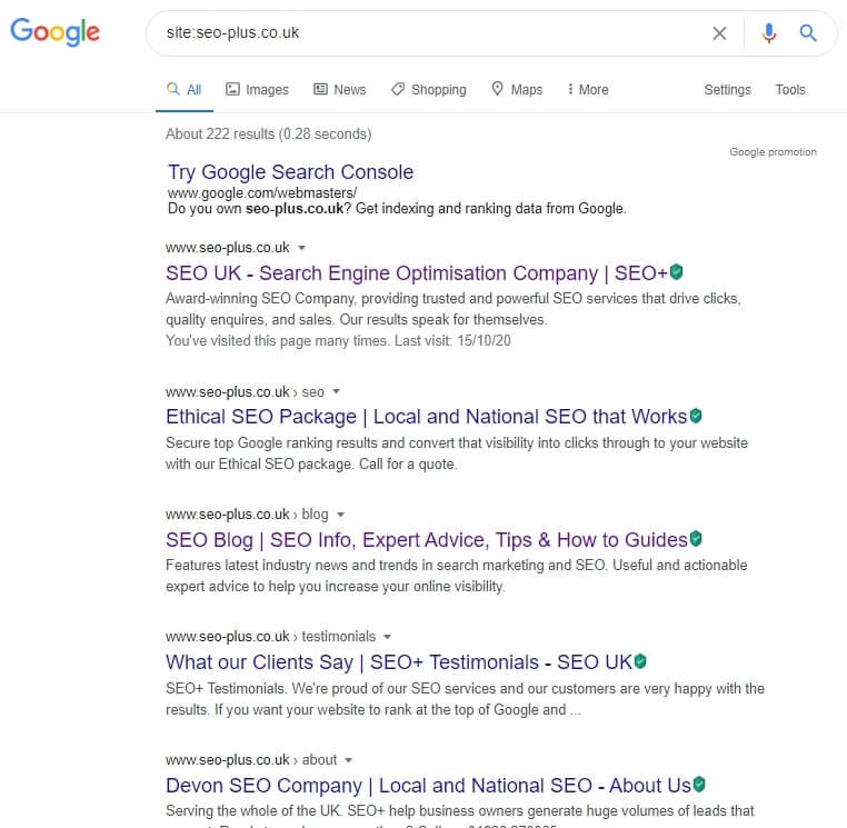check whether Google has already indexed your site