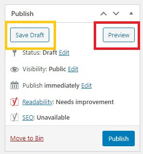 the Preview button in the Publish panel