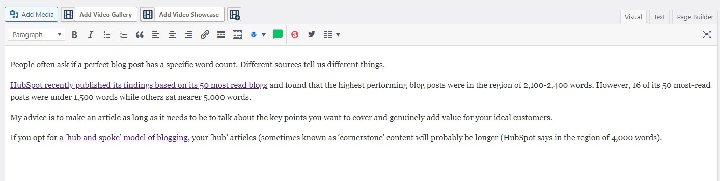 Applying links in WordPress
