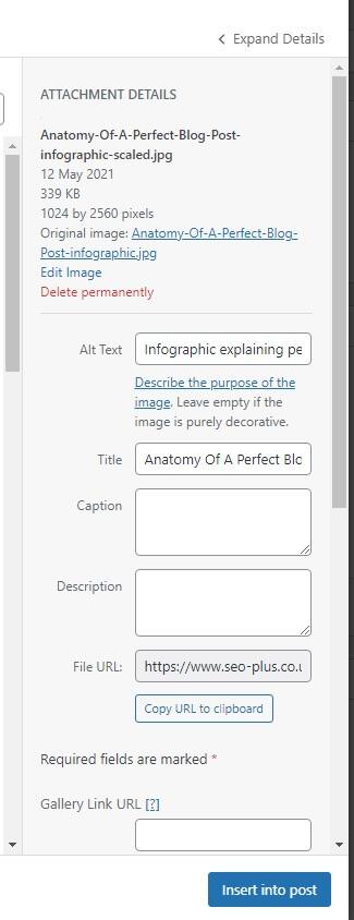 Optimising images in WordPress