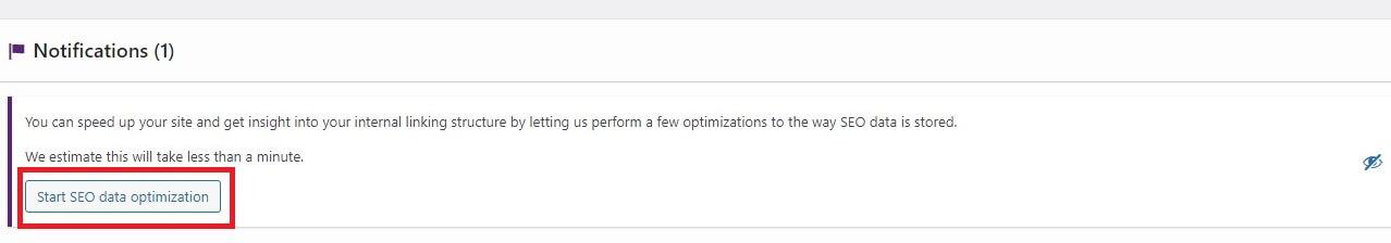 Start SEO data optimisation