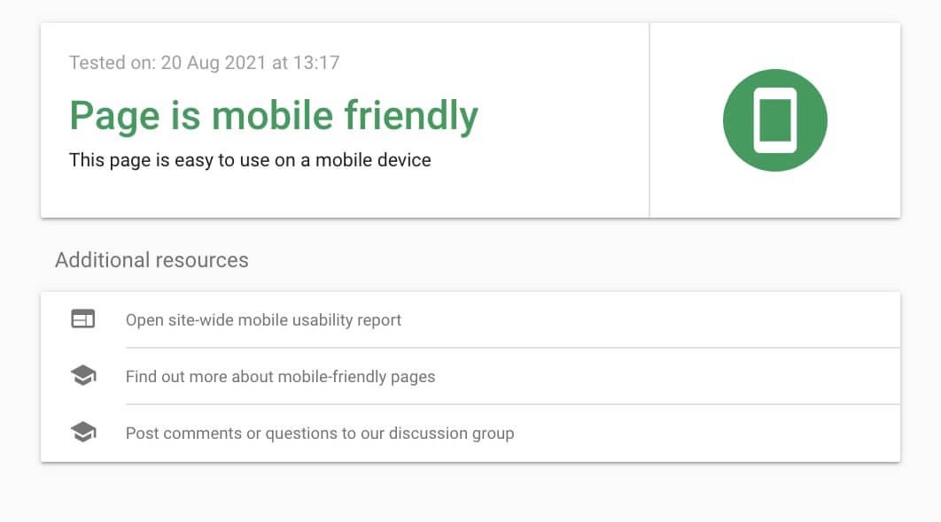 SEO Task - Test for mobile-friendliness