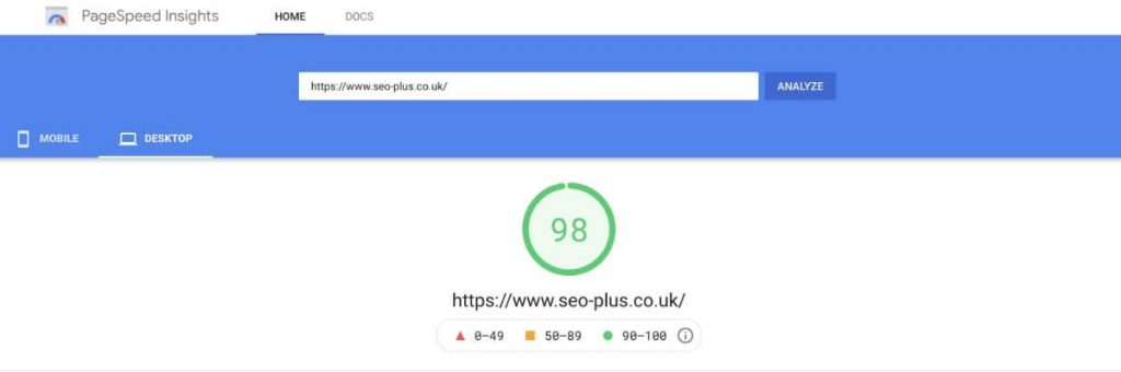 Check your page load speeds with PageSpeed Insights